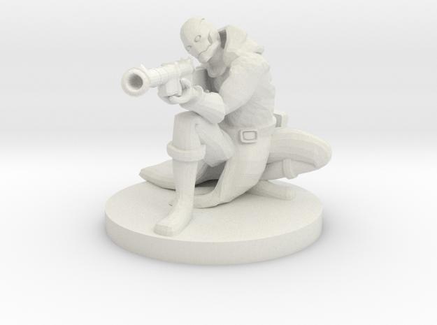 Warforged Gunslinger in White Strong & Flexible