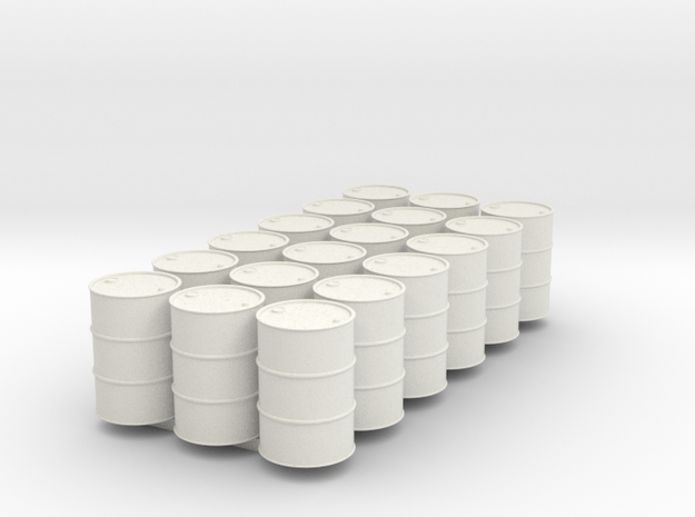 18 HO scale oil drums