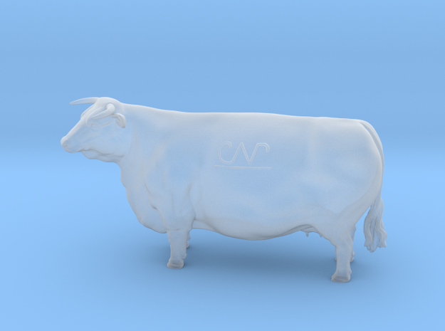 1/64 Horned Hereford Cow1 in Frosted Ultra Detail