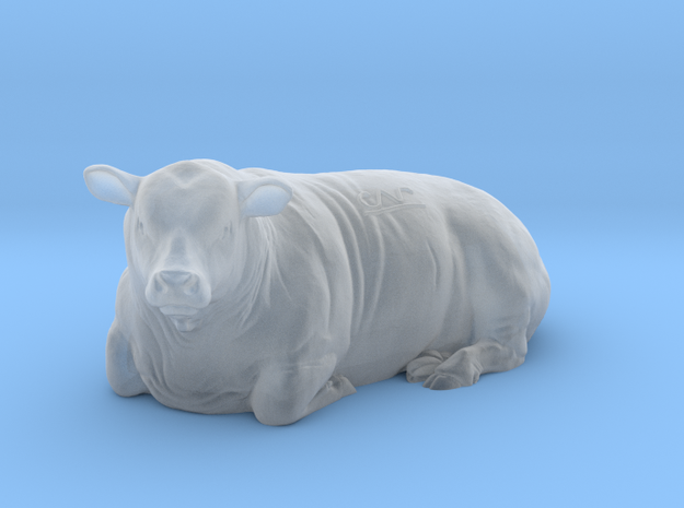 1/64 Lying Polled Bull Left Turn in Frosted Ultra Detail