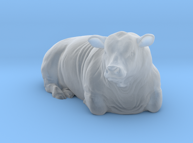 1/64 Lying Polled Bull Right Turn in Frosted Ultra Detail