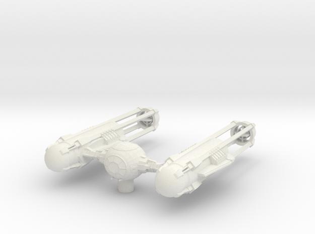 TYE-Wing - Dart Variation in White Natural Versatile Plastic