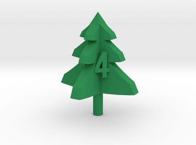 trimmed tree d4 in Green Strong & Flexible Polished