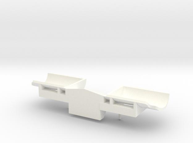 O Snow Plow 2 in White Processed Versatile Plastic