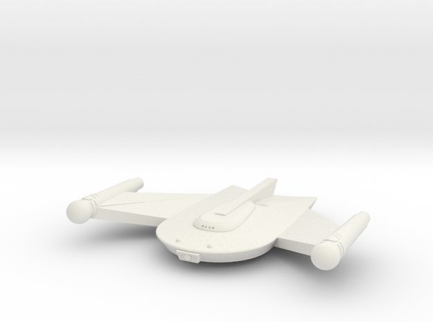 3125 Scale Romulan Snipe Frigate MGL in White Strong & Flexible