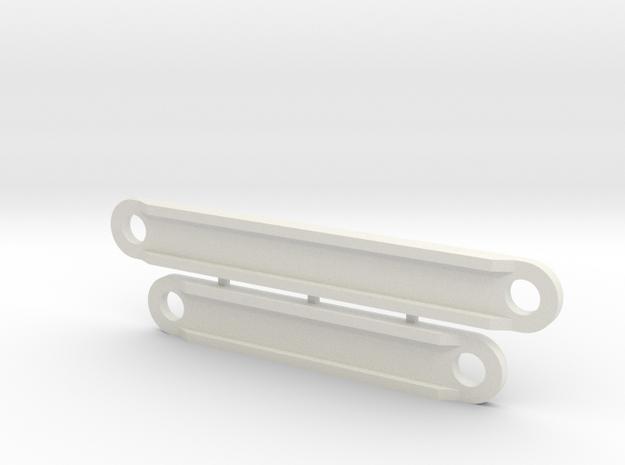 Yokomo 870c/YZ-10 Battery Retainers  in White Strong & Flexible