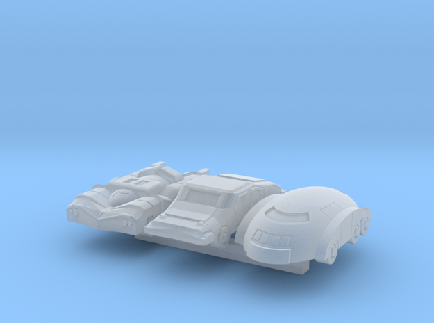Six Wheeler Cars in Smooth Fine Detail Plastic