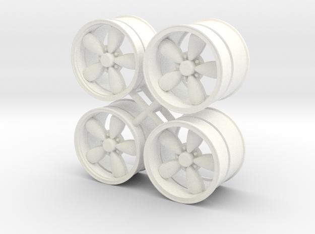 A/R 1/12 200S wheel set 15 inch in White Processed Versatile Plastic
