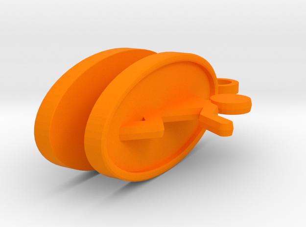 Portal Earrings in Orange Strong & Flexible Polished
