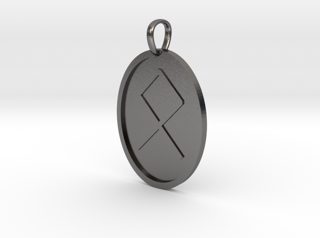 Oedel Rune (Anglo Saxon) in Polished Nickel Steel
