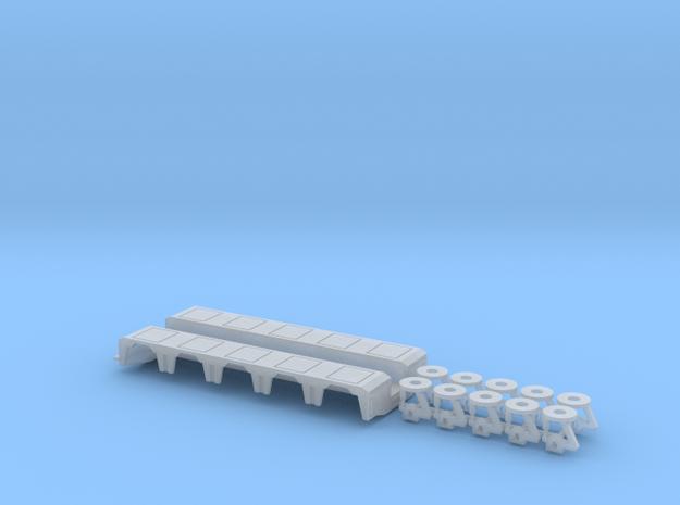 1/87 P-X 5 Axle Rear Module  in Frosted Ultra Detail
