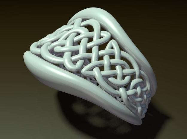 Another Celtic Knot Ring 3d printed Description