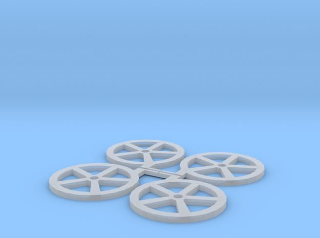 QR Handbrake Wheels in Smoothest Fine Detail Plastic
