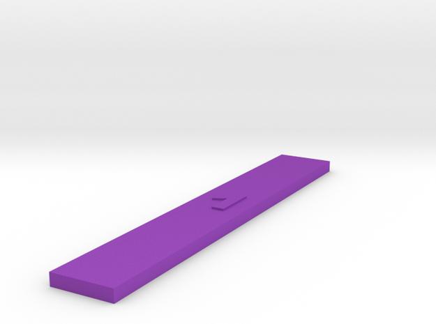 Customizable Range Ruler - Space 1  in Purple Processed Versatile Plastic