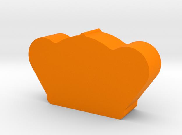 Crown Game Piece in Orange Processed Versatile Plastic