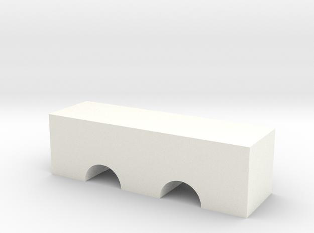 Double Arch Bridge Game Piece in White Processed Versatile Plastic