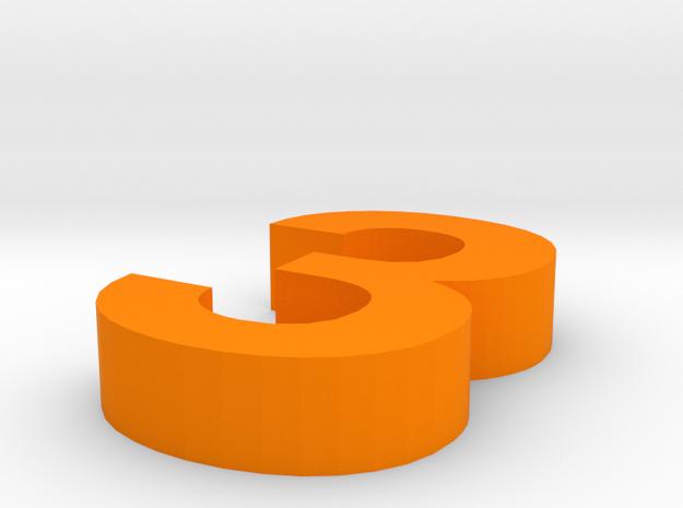 3 in Orange Processed Versatile Plastic