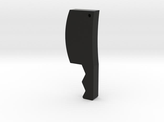 Cleaver Game Piece in Black Natural Versatile Plastic