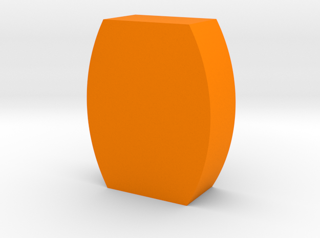 Flat Barrel Game Piece in Orange Strong & Flexible Polished
