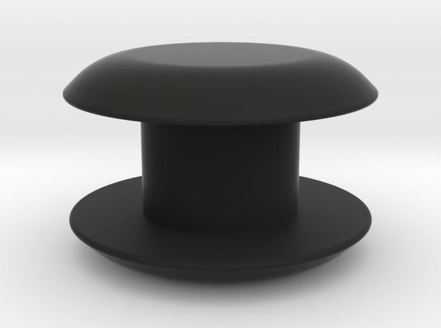 Boat Tie Game Piece in Black Natural Versatile Plastic