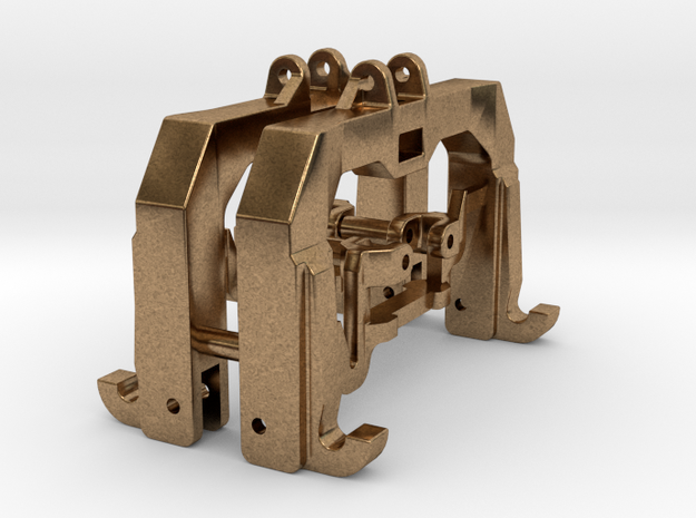 (2) GREEN 3 POINT CAT 3/4N  QUICK HITCH - BR in Natural Brass