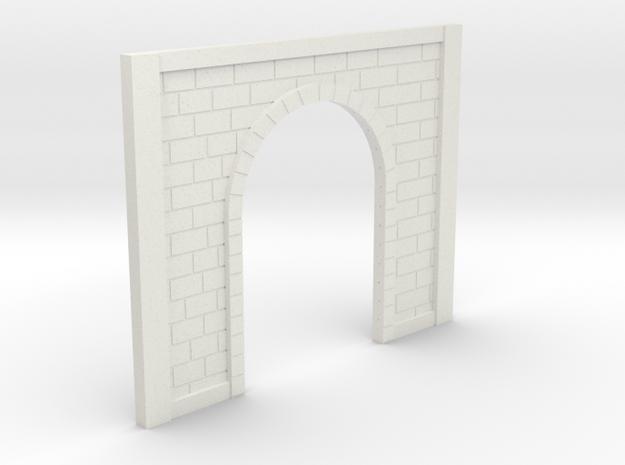 OO9 Tunnel Portal in White Natural Versatile Plastic