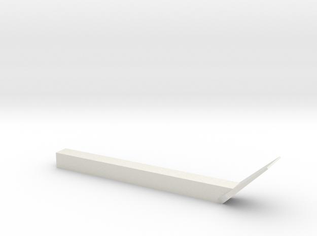 OO Uncoupler  in White Natural Versatile Plastic