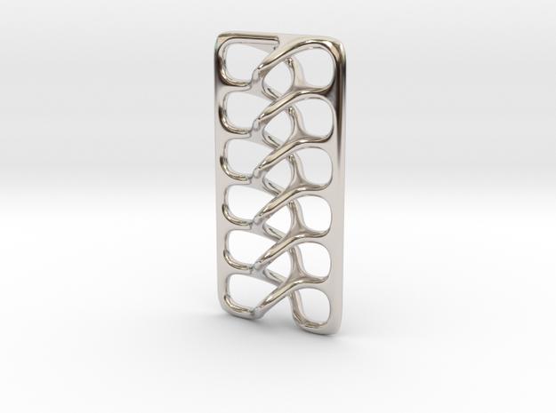 Intertwine pendant in Rhodium Plated