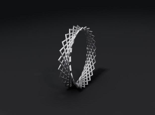 Hyperboloid ring 3d printed Description