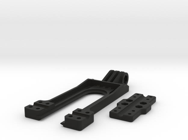 GoPro type compatible mount for Taranis X9D Transm in Black Strong & Flexible