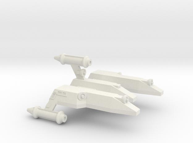 3788 Scale Lyran Serval War Cruiser Scout CVN in White Natural Versatile Plastic