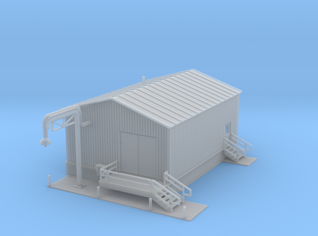 Water Building filling station Z scale