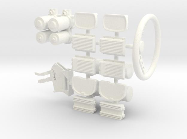 ProMod 1/8 interior pkg 2 in White Processed Versatile Plastic