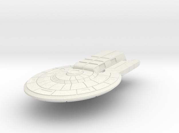 Colonial Light Carrier (no turrets) in White Natural Versatile Plastic