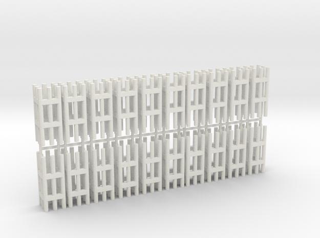 Duckdalben 8er rund 20erSet 1:120 in White Natural Versatile Plastic