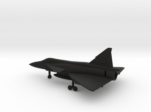 Saab J.37 Viggen in Black Natural Versatile Plastic: 1:200