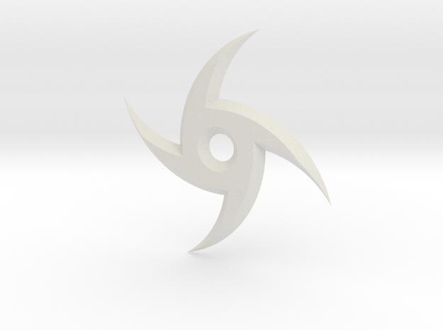 Spiral Ninja Star in White Natural Versatile Plastic