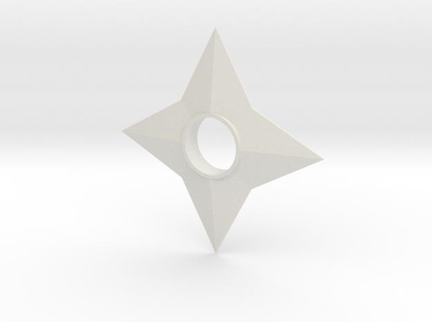 Shinobi Ninja Star in White Natural Versatile Plastic