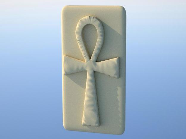 Belt Holder - Ankh 3d printed Rendered front view