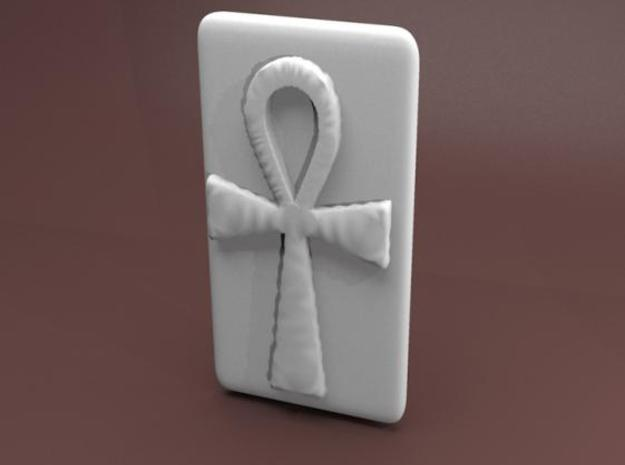 Belt Holder - Ankh in White Strong & Flexible