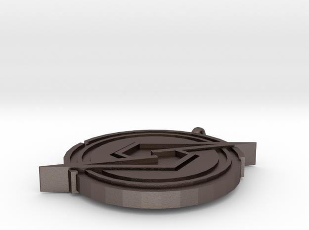 Samus Returns Pendant in Polished Bronzed Silver Steel