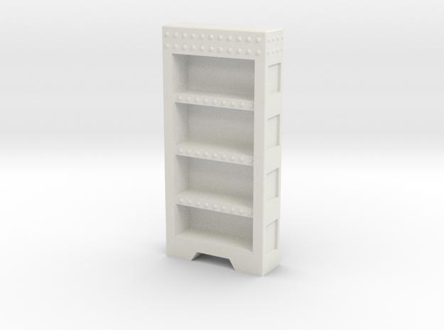 Vertical Empty Bookshelf in White Natural Versatile Plastic