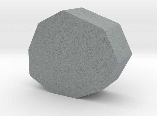Stone Game Piece in Polished Metallic Plastic