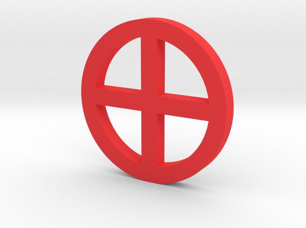 Unavailable Game Piece in Red Processed Versatile Plastic