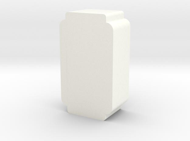 Spool of Thread Game Piece in White Processed Versatile Plastic