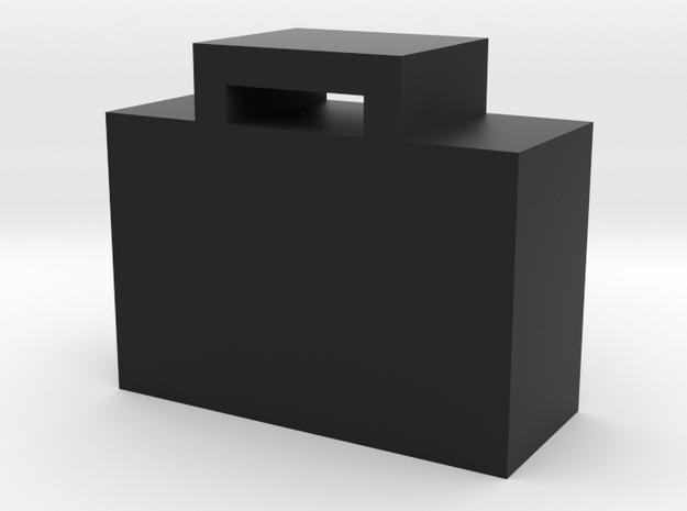 Suitcase Game Piece in Black Natural Versatile Plastic