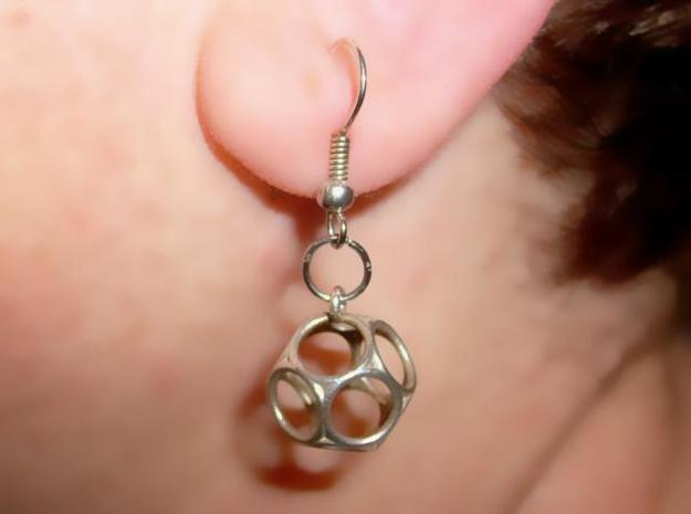 Dod Earrings - Thin 3d printed In Silver (hook not included)