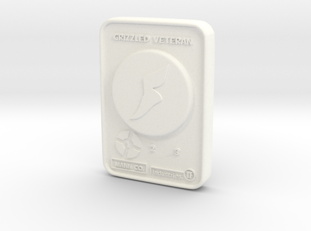 Grizzled Veteran - Scout in White Processed Versatile Plastic