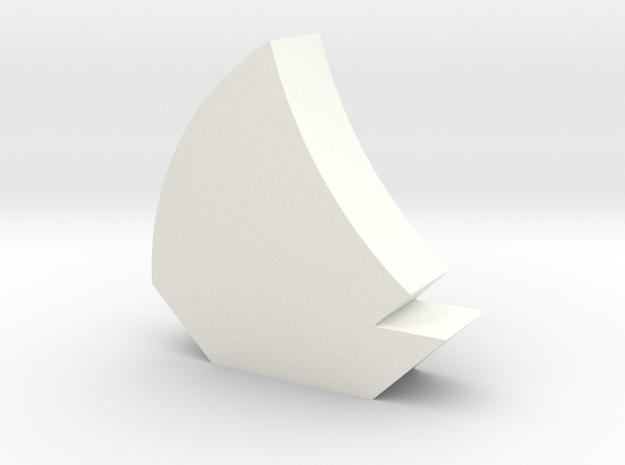 Sailboat Game Piece in White Processed Versatile Plastic