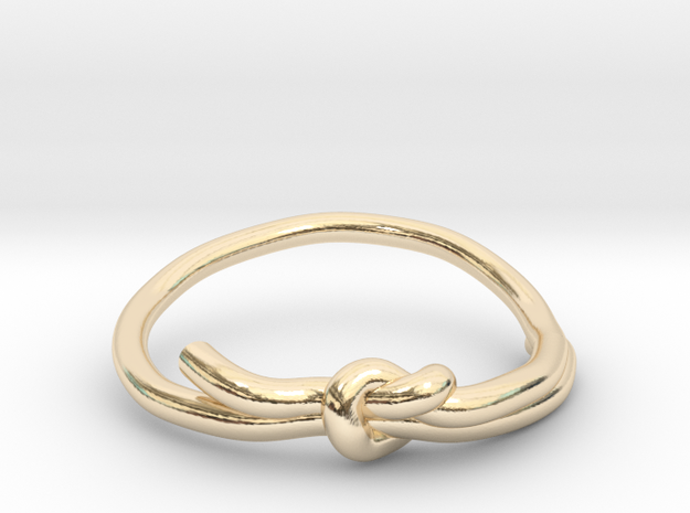 KNOT RING in 14k Gold Plated Brass